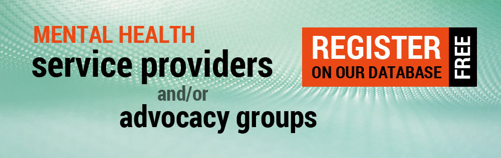 Health service providers and advocacy groups register for free on our database